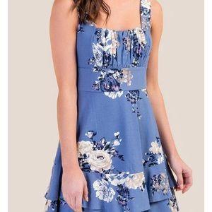 Francesca's light blue floral dress